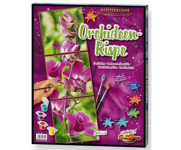 Schipper Malen nach Zahlen Orchideenrispe Triptychon