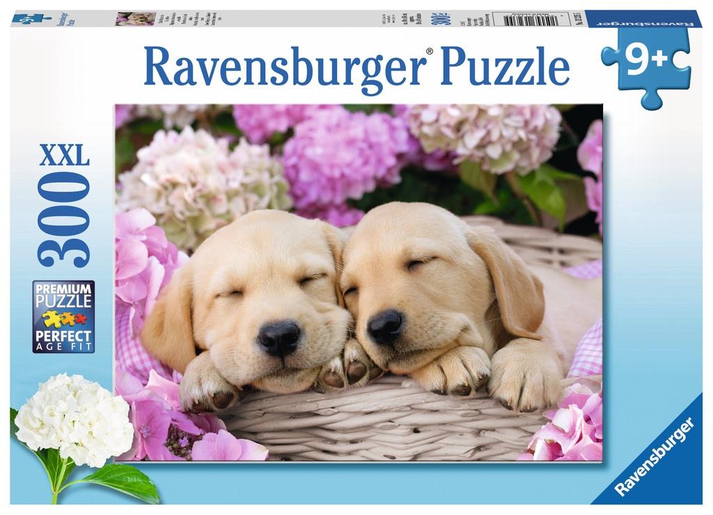 Ravensburger Puzzle Süße Hunde im Körbchen 300 Teile