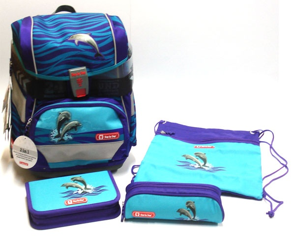 Step by Step Happy Dolphins 2in1 Schulranzen