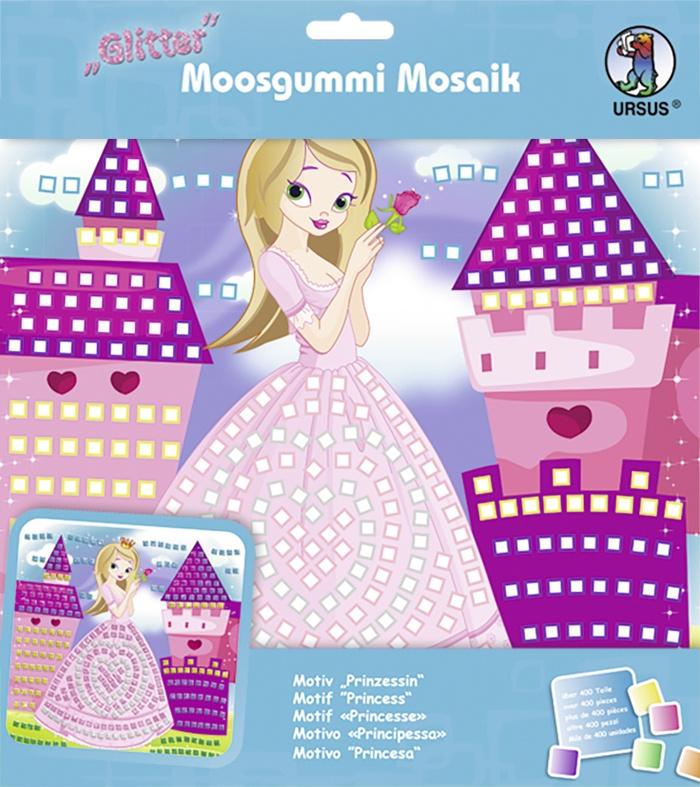 Moosgummi Mosaik Glitter Prinzessin
