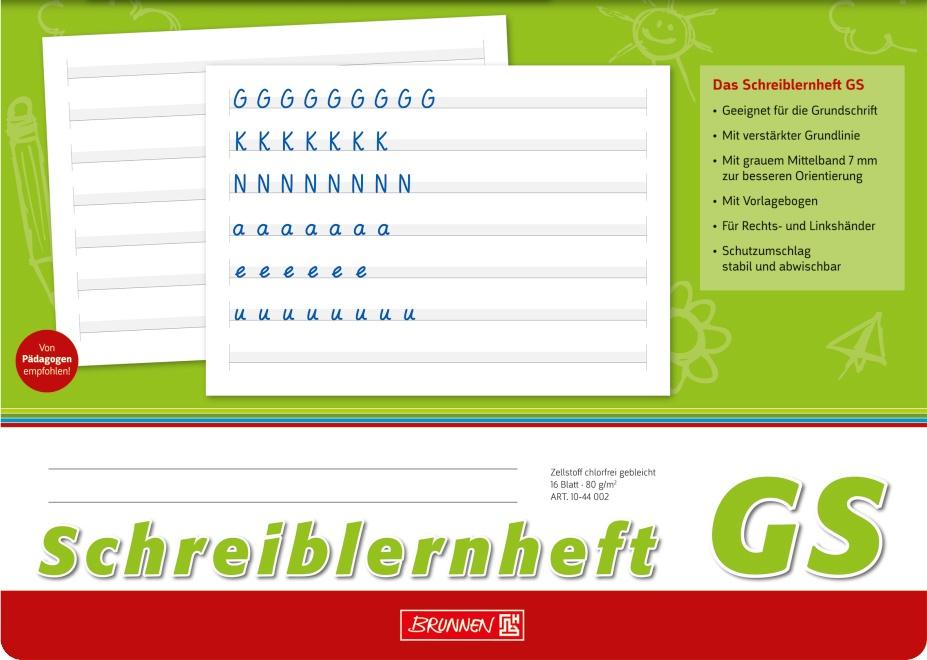 Brunnen Schreiblernheft A4 quer Lineatur GS