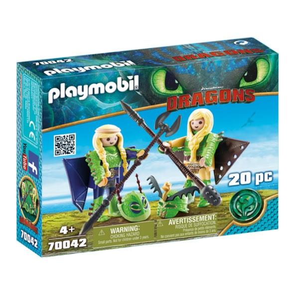 Playmobil 70042 Dragons Raffnuss und Taffnuss mit Flufanzug