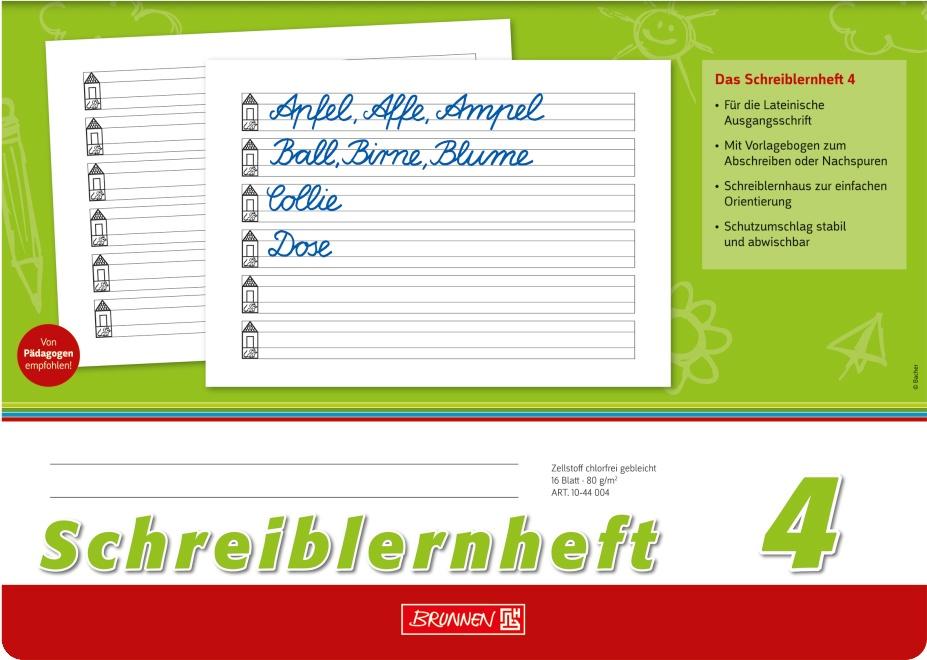 Brunnen Schreiblernheft A4 quer Lineatur 04