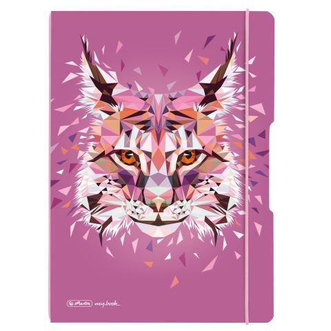Herlitz Notizheft Flex A4 Wild Animals Luchs