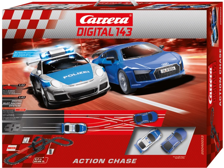 Carrera Digital 143 Autorennbahn Action Chase