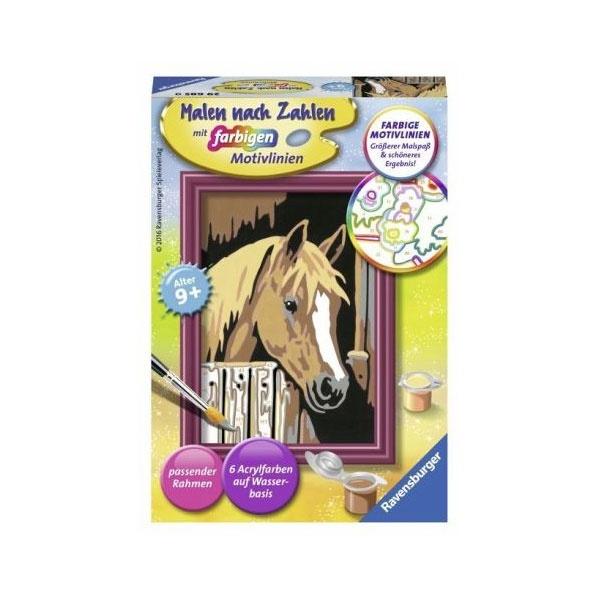 Ravensburger Malen nach Zahlen Pferd im Stall