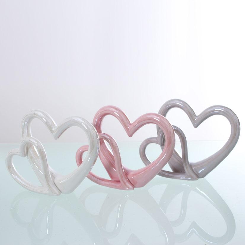 Deko-Herz duo rosa Hochzeitsdekoration