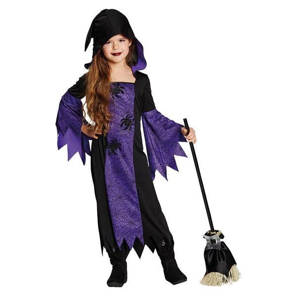 Kostüm Hexe Violet schwarz-lila 164