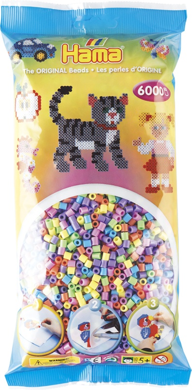 Hama Bügelperlen 6000 Stück Pastell Farben