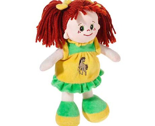 Poupetta Stoffpuppe kleine Lotte rotes Haar 20 cm