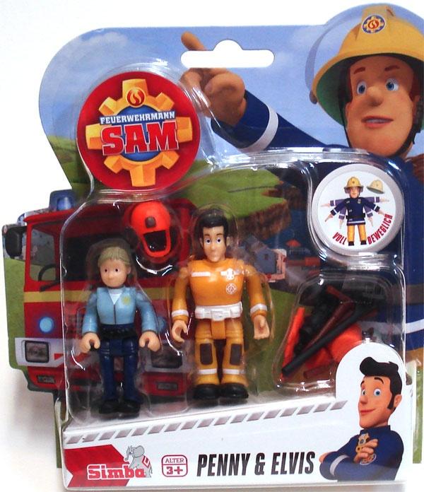 Feuerwehrmann Sam Figuren Penny und Elvis