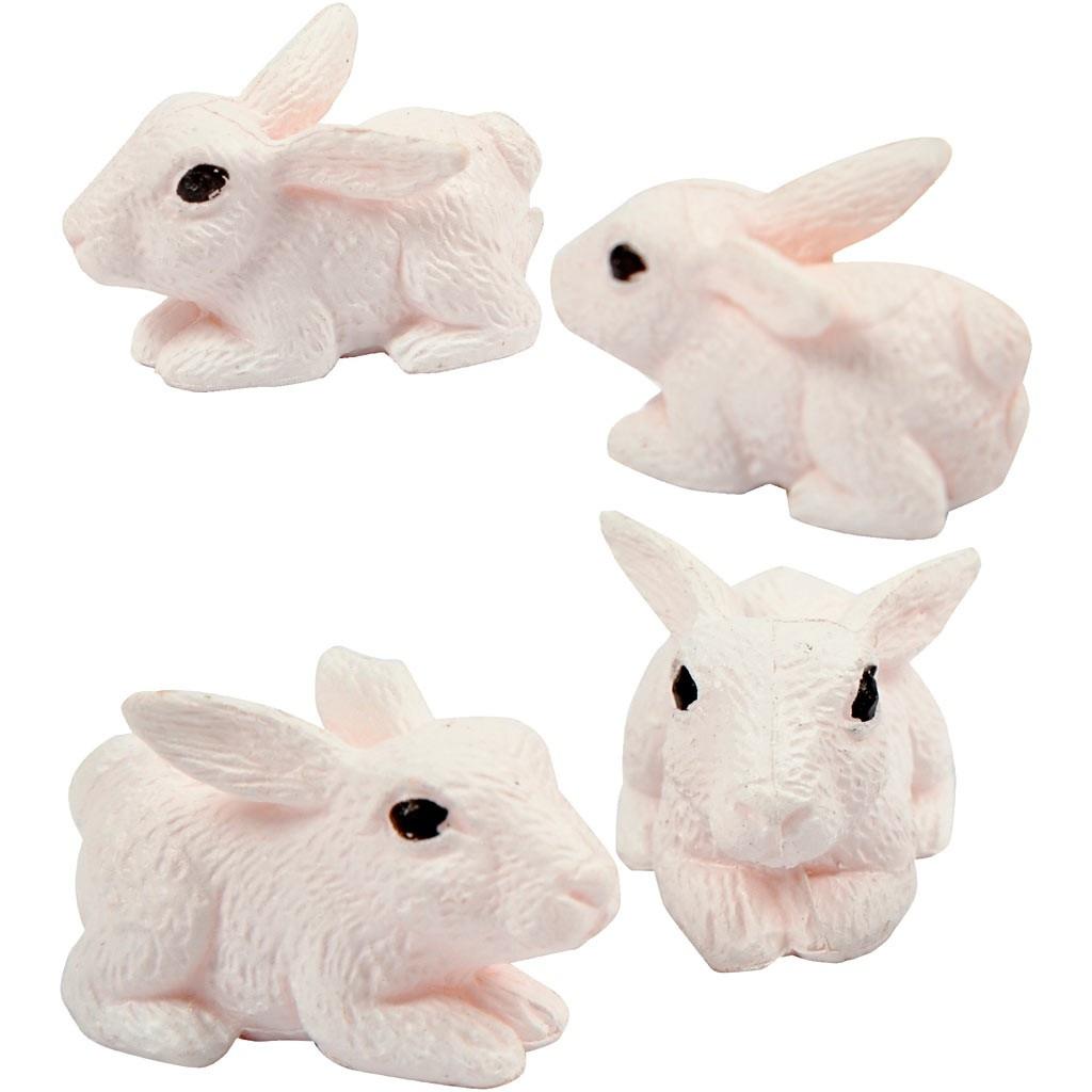 Miniatur-Tierfiguren Hasen 10 mm 4 Stück