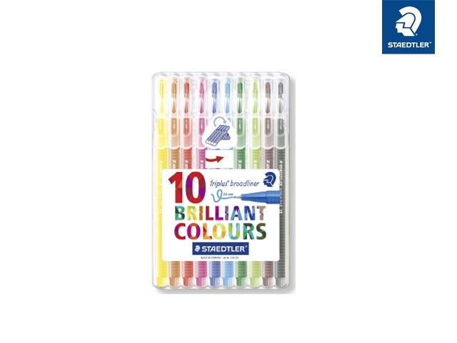 Staedtler lBroadliner triplus Brilliant Colours 10 Stück
