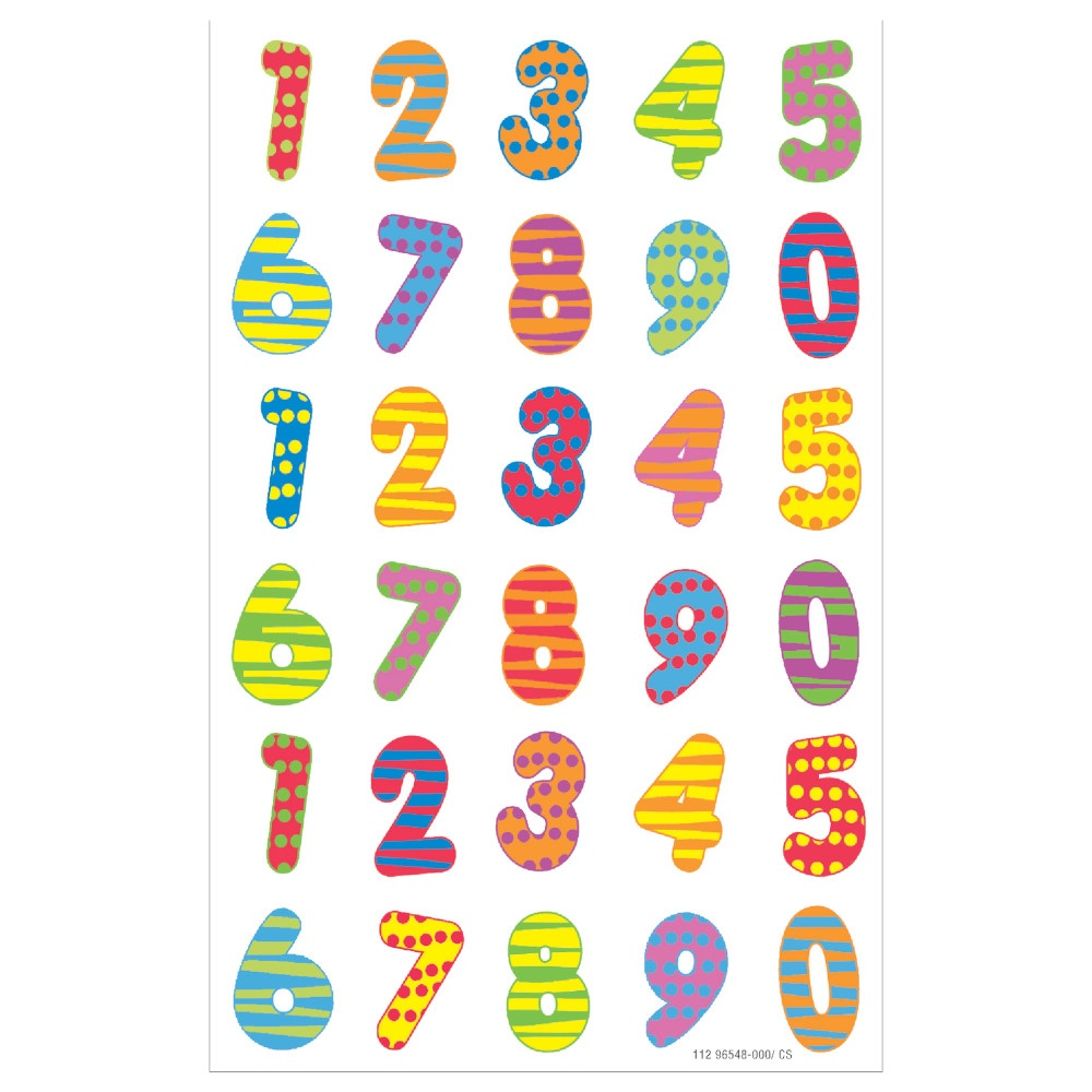 Etiketten Zahlen, bunt