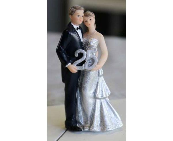Hochzeitspaar Silberne Hochzeit 25 Jahre Brautpaar