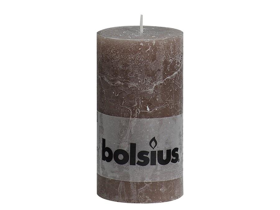 Bolsius Rustik Stumpenkerze 130/68 mm taupe