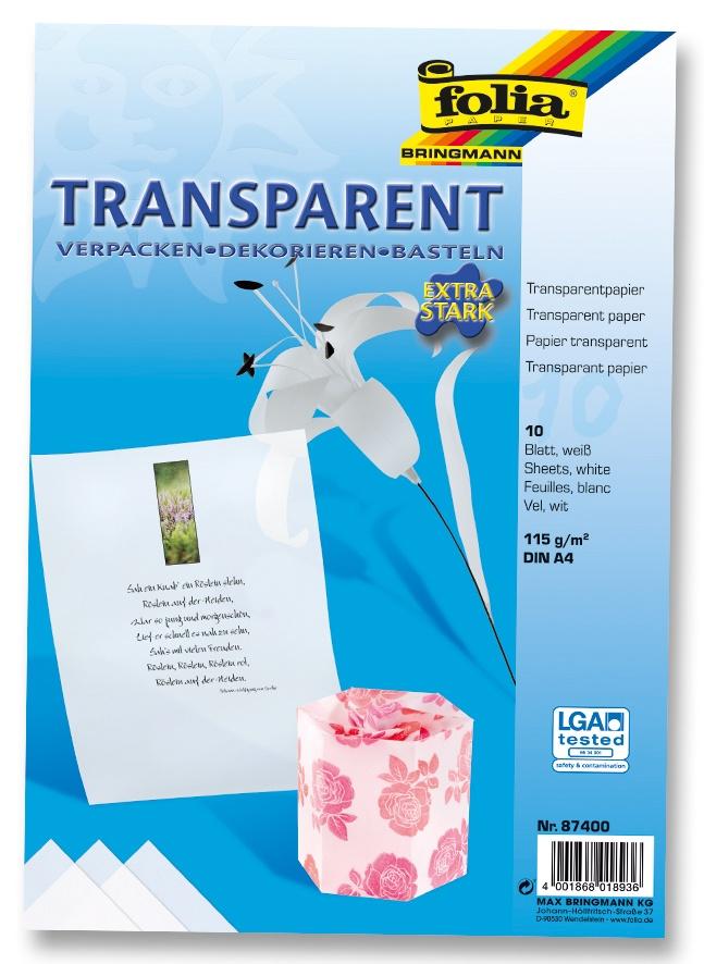 Folia Transparentpapier A4 weiß