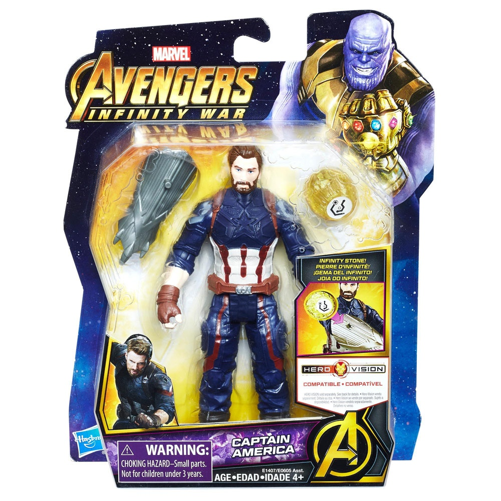 Avengers Figur mit Infinity Stein Captain America