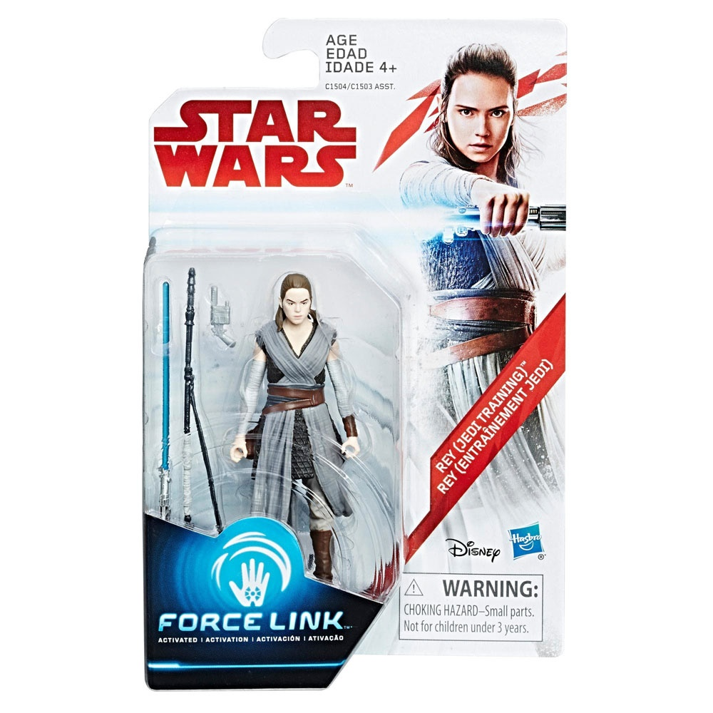 Star Wars Episode 8 Force Link Figuren Rey Jedi Training