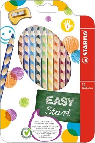 Stabilo EASYcolors  Farbstifte für Linkshänder 12 Stück