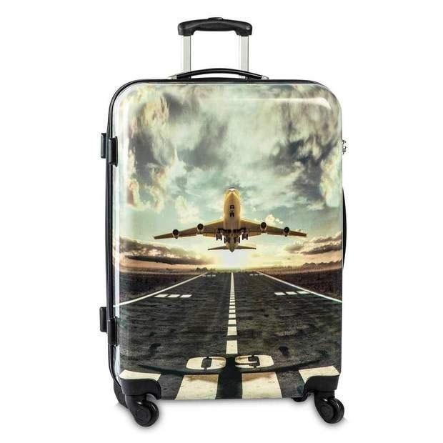 Fabrizio Trolley Airplane dunkelgrau Koffer
