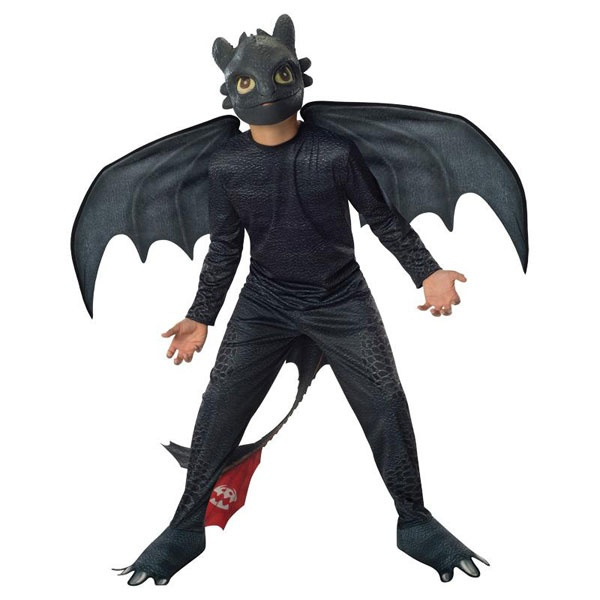 Kostüm Dragon 2 Toothless Night Ohnezahn schwarz S 3-4 Jahre