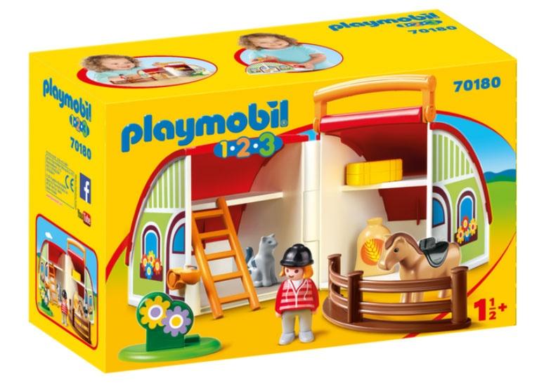 Playmobil 70180 1.2.3 Mein Mitnehm-Reiterhof