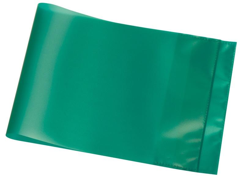 Hefthülle A5 quer grün transparent