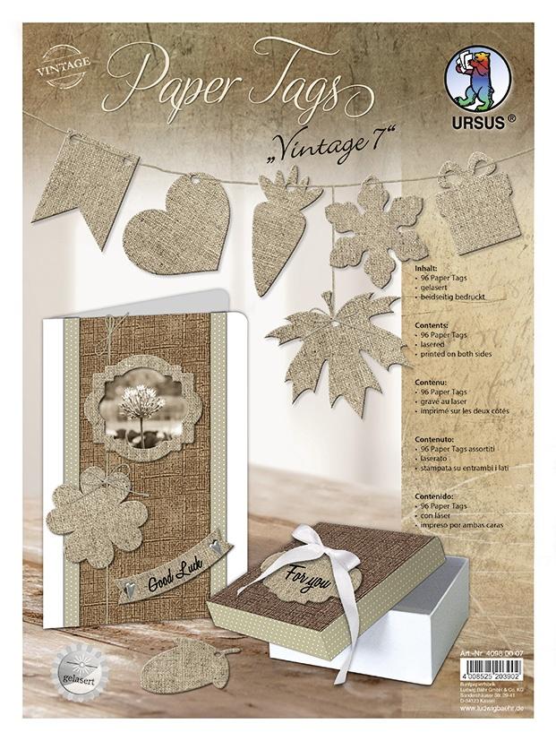 Bastelmappe Paper Tags Vintage 7