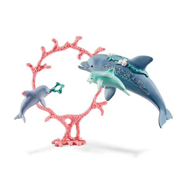Schleich Bayala Delfin-Mama mit Baby 41463