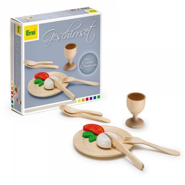 Erzi Puppengeschirr Geschirrset aus Holz