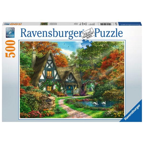 Puzzle Cottage im Herbst 500 Teile von Ravensburger