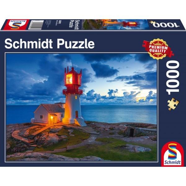 Schmidt Spiele Puzzle Leuchtturm in der Dämmerung 1000 Teile