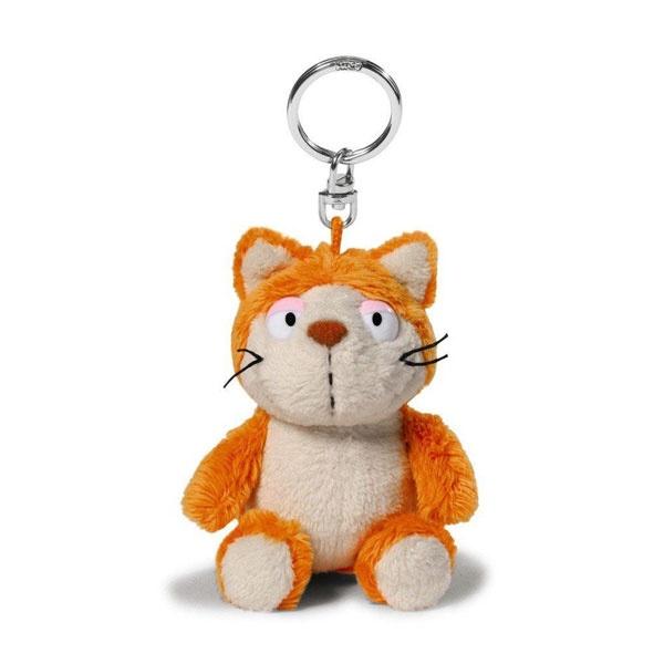 Schlüsselanhänger Katze Hungry orange 10cm