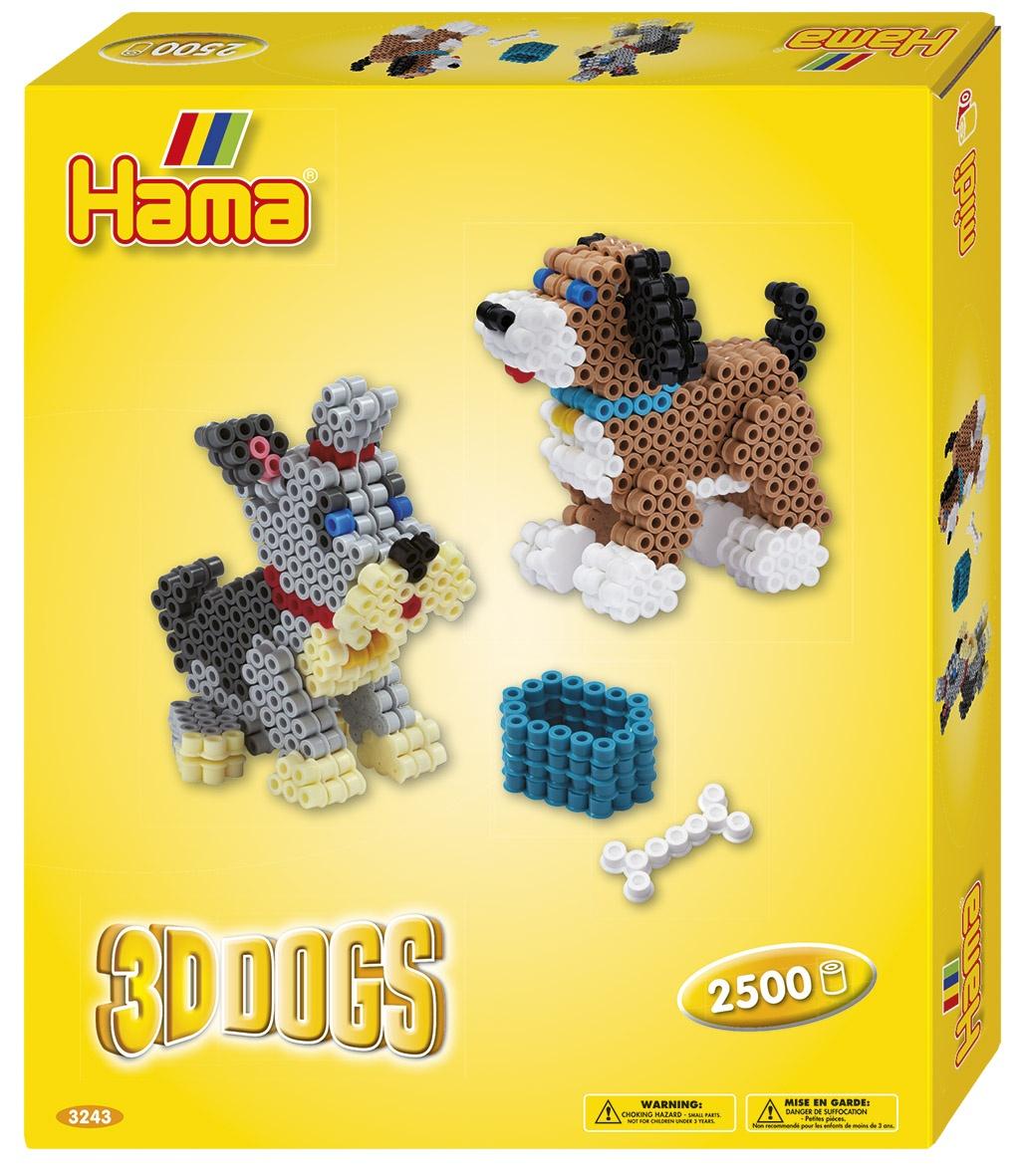 Hama Geschenkpackung 3D Hunde 2500 Perlen