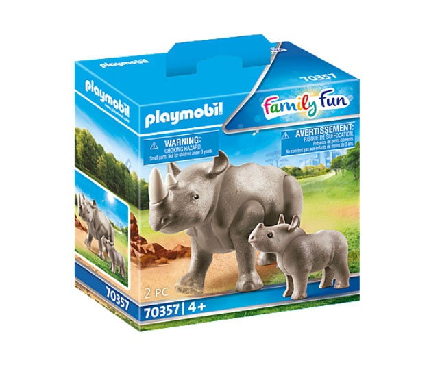 Playmobil 70357 Family Fun Nashorn mit Baby