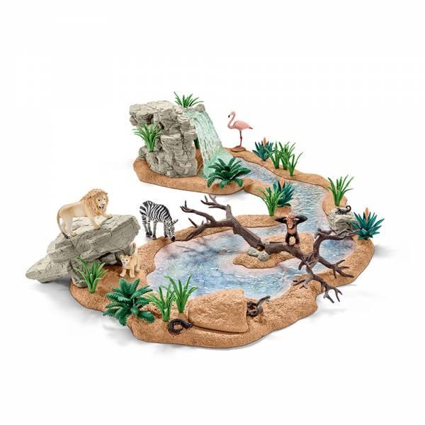Schleich Wild Life Große Abenteuer-Wasserstelle 42321