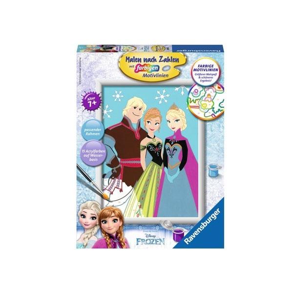 Malen nach Zahlen Frozen Elsa, Anna & Kristoff