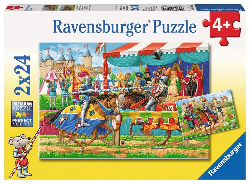 Ravensburger Puzzle Bei den Rittern 2 x 24 Teile