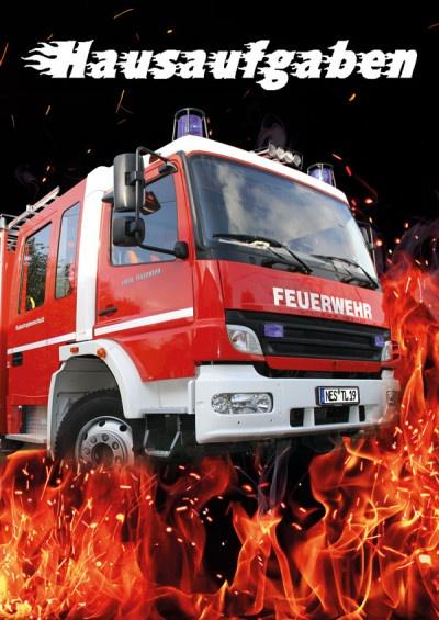 Hausaufgabenheft Feuerwehr