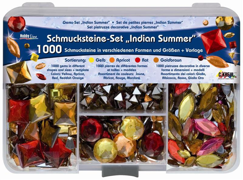 Hobby Line Schmucksteine-Set Indian Summer