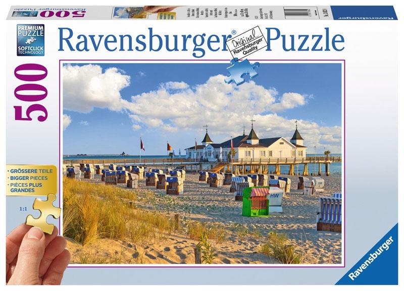 Ravensburger Puzzle Strandkörbe in Ahlbeck 500 Teile