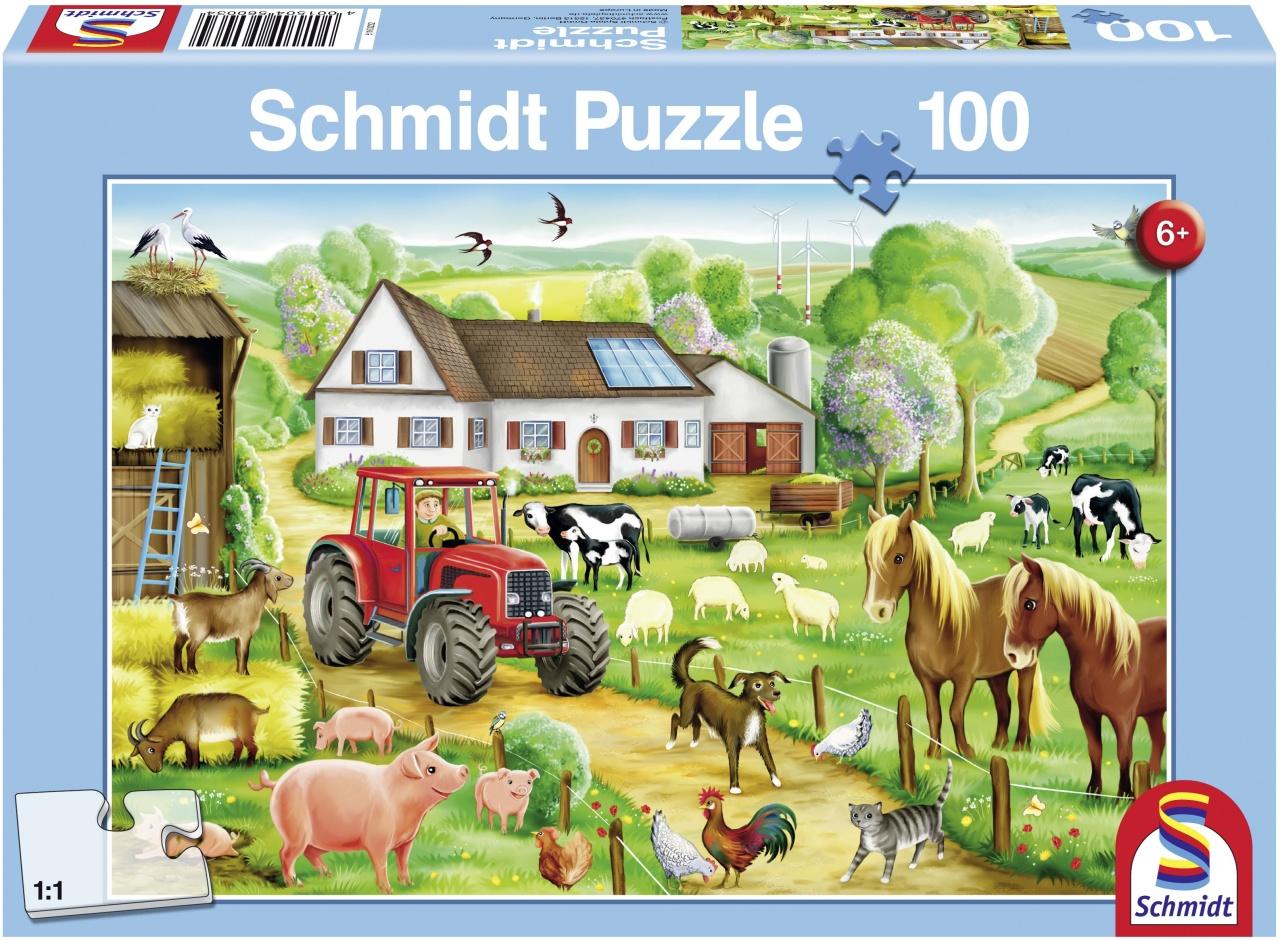 Schmidt Spiele Puzzle Fröhlicher Bauernhof 100 Teile