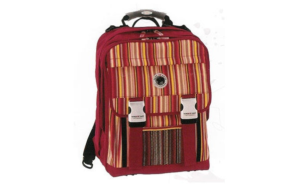 Take it Easy Rainbow rot Rucksack eckig