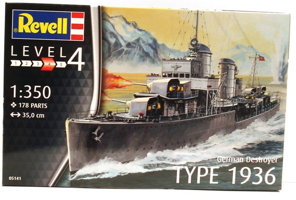 Revell 05141 German Destroyer Type 1936   1:350