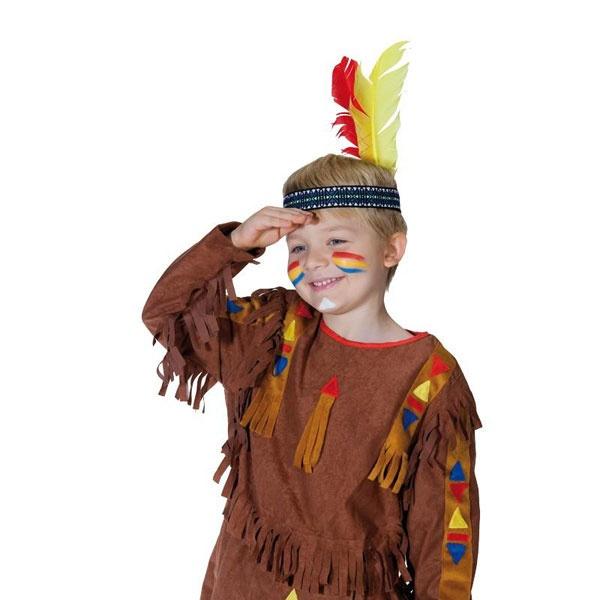 Kostüm-Zubehör Stirnband Indianer