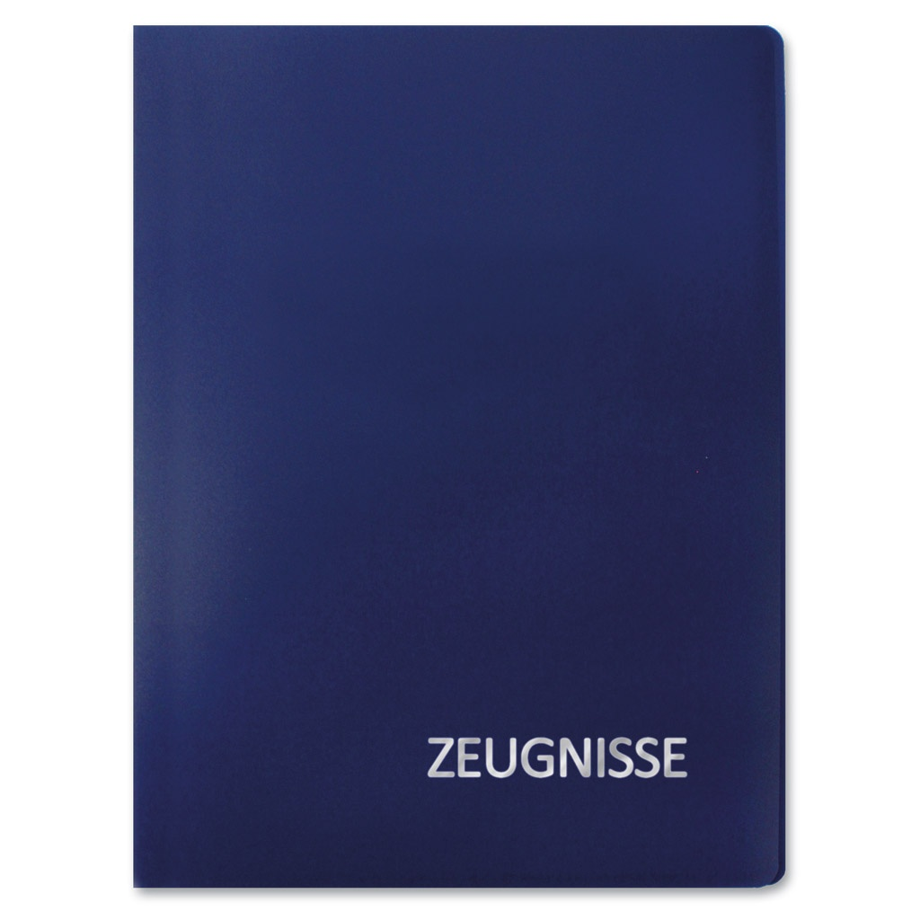 Roth Zeugnismappe A4 Basic blau 20 Einlagen