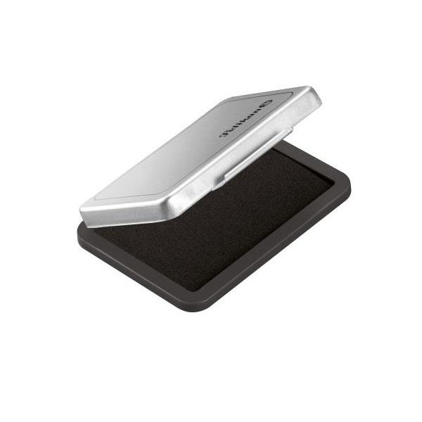 Stempelkissen metallic schwarz