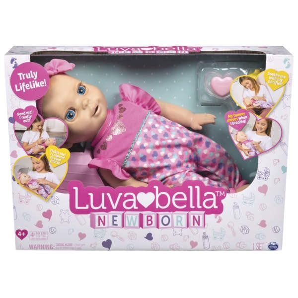 Luvabella Newborn Puppe blond von Spinmaster