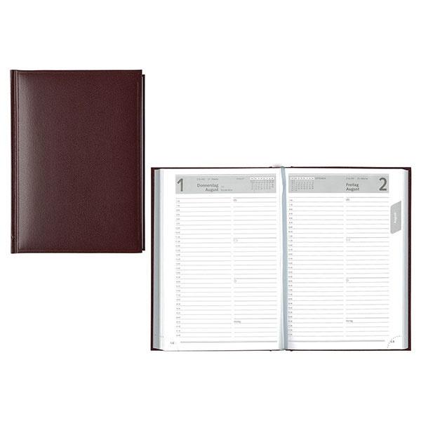 Idena Buchkalender (Kalender) A5 Balacron bordeaux 2021